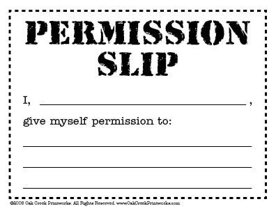 printable permission slip templates .